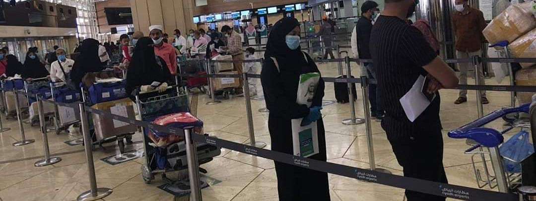 335 stranded  citizens arrived in Kerala on Friday night from Riyadh and Bahrain
