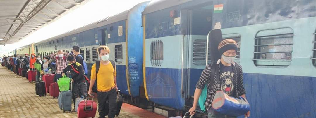 A total of 18 shramik special trains have chugged into Assam till May 22
