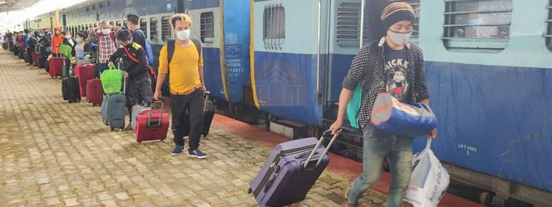 Special trains have been arranged to bring back stranded people to Meghalaya