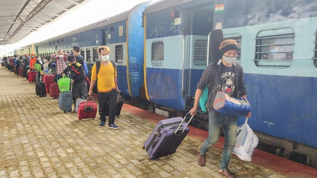 Special trains arranged to bring back stranded people to Meghalaya