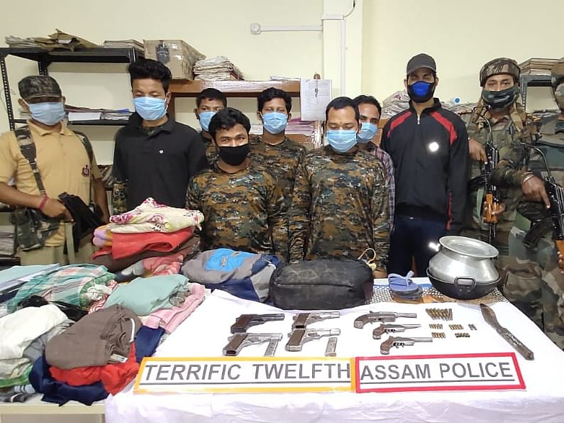 Assam:  KLO recruitment racket busted; 7 rebels held, arms seized