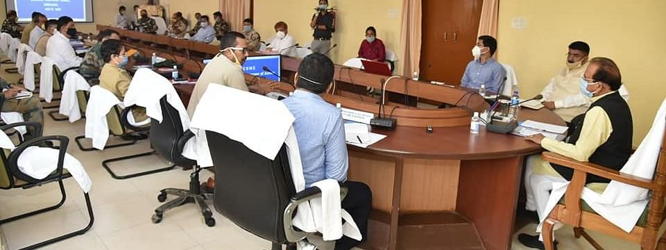 Assam Governor Jagdish Mukhi holds meeting with the principal secretary, deputy commissioners, senior officials of police and law enforcement departments at Bodoland Secretariat in Kokrajhar