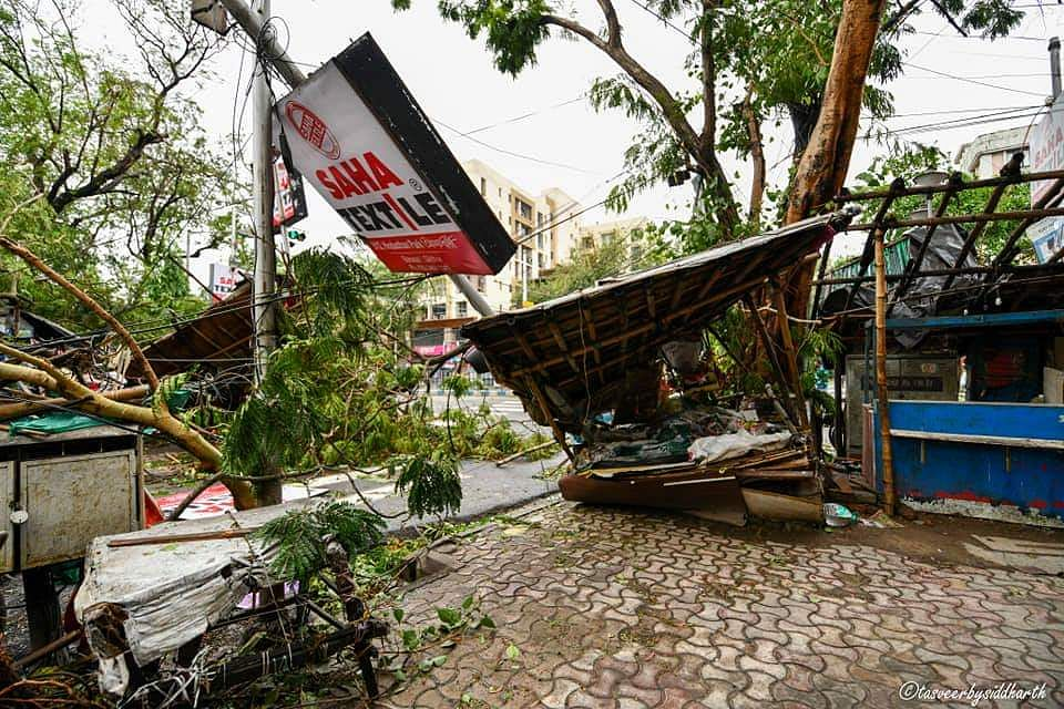 5,000 houses werer flattened or flung away in North 24 Parganas district of West Bengal due to Cyclone Amphan