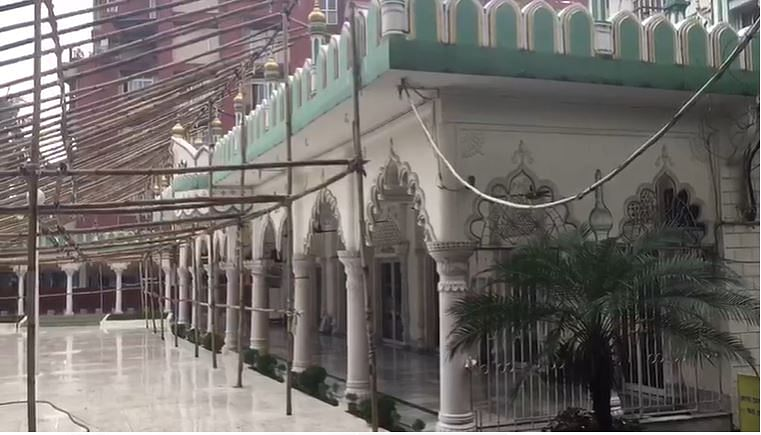 One of the prominent Masjid in Guwahati, Burha Jame Masjid, looks deserted on Monday morning