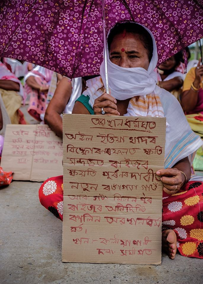 Each protesters echoing the pain of loosing their land and livelihood and also fear of their uncertain future