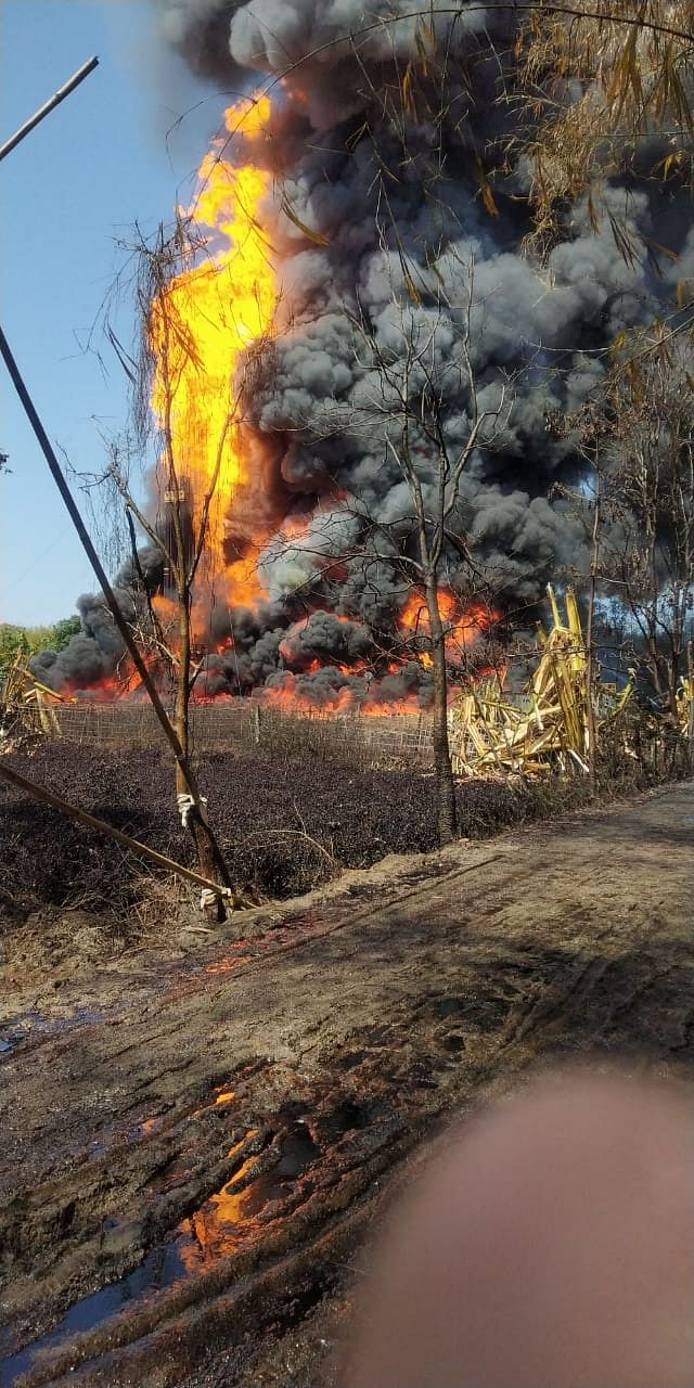 Fire causes harm to the nearby villagers