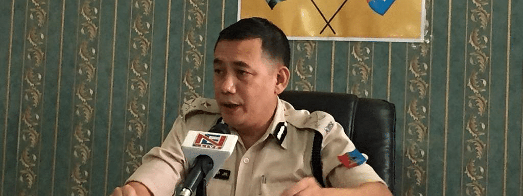 IG Range Lima Sunep Jamir addressing a press conference on Friday