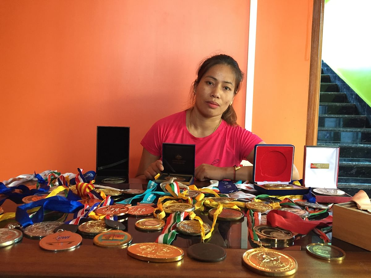 Two-time Commonwealth Games champion and weightlifter Khumukcham Sanjita Chanu