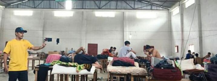 A total of 60 male returnees shared one hall before being shifted to separate rooms at the quarantine centre in Kangpokpi district, Manipur
