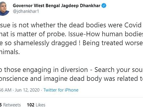 Twitter war of words over viral video of disposal of dead bodies