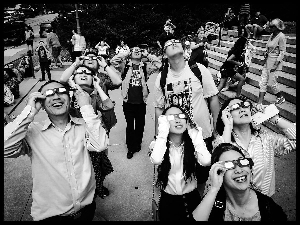 The usage of special-purpose solar filters or 'eclipse glasses' is a must to protect the eye