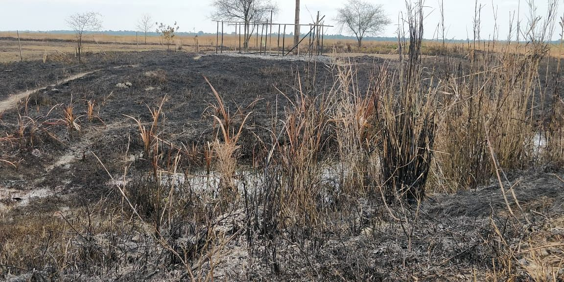 Devastation in nearby areas due to the fire