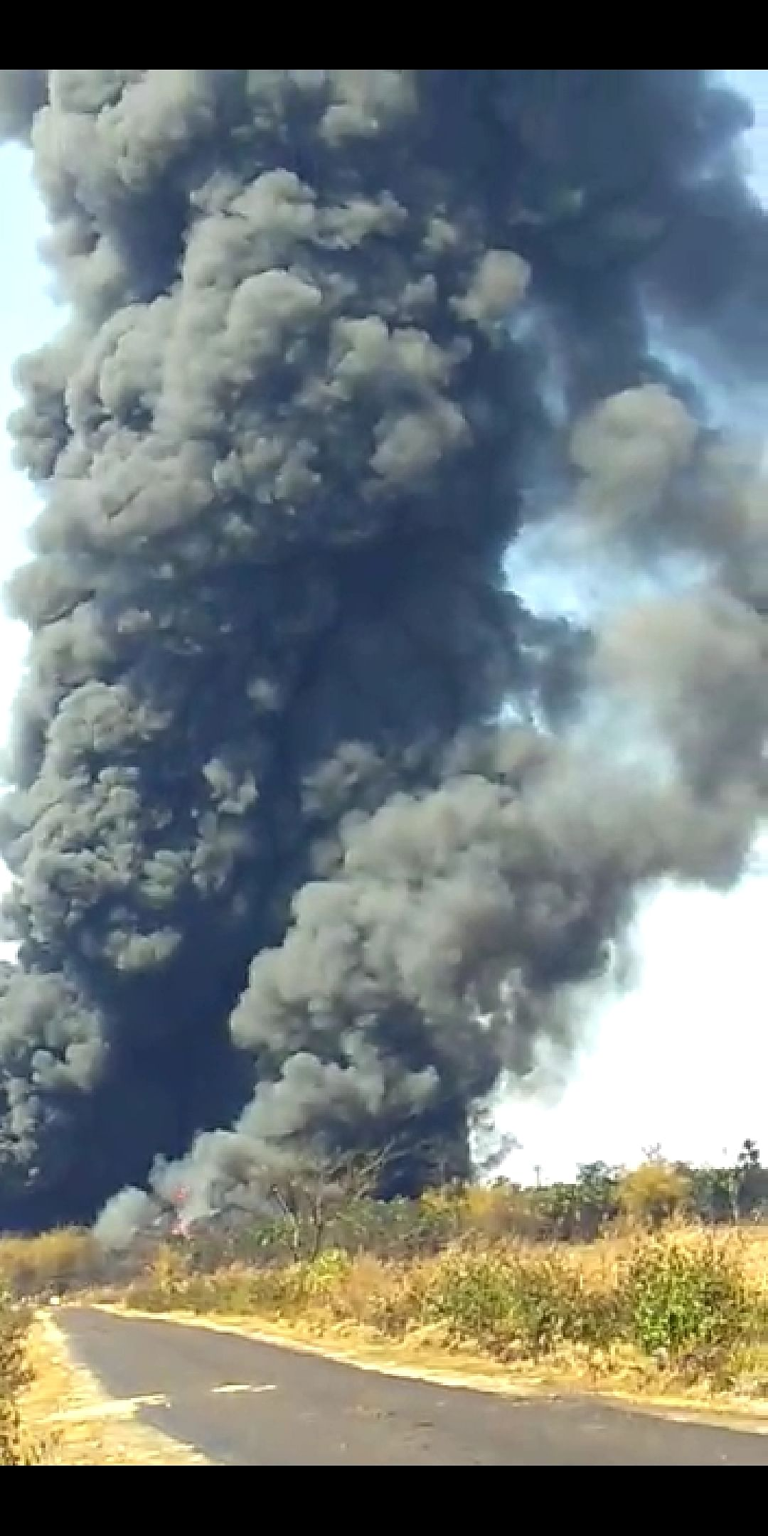 Black smoke continuously coming out of the site