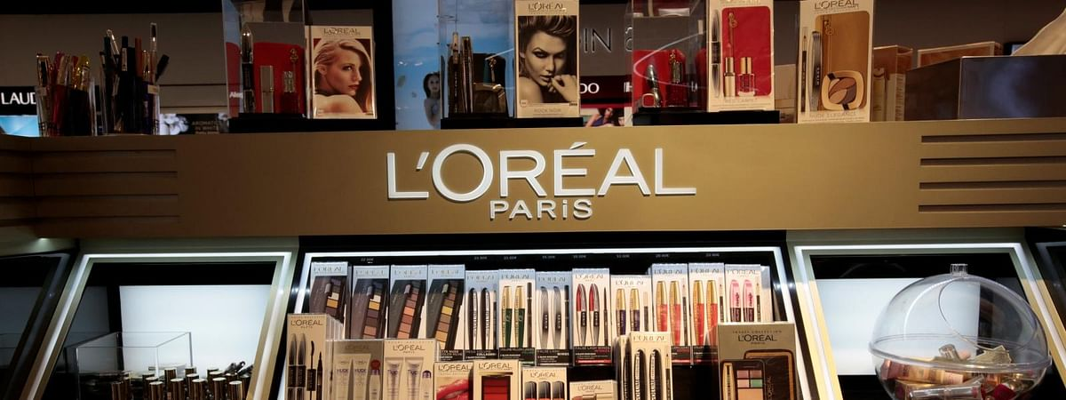 A L'Oreal stall selling cosmetic products