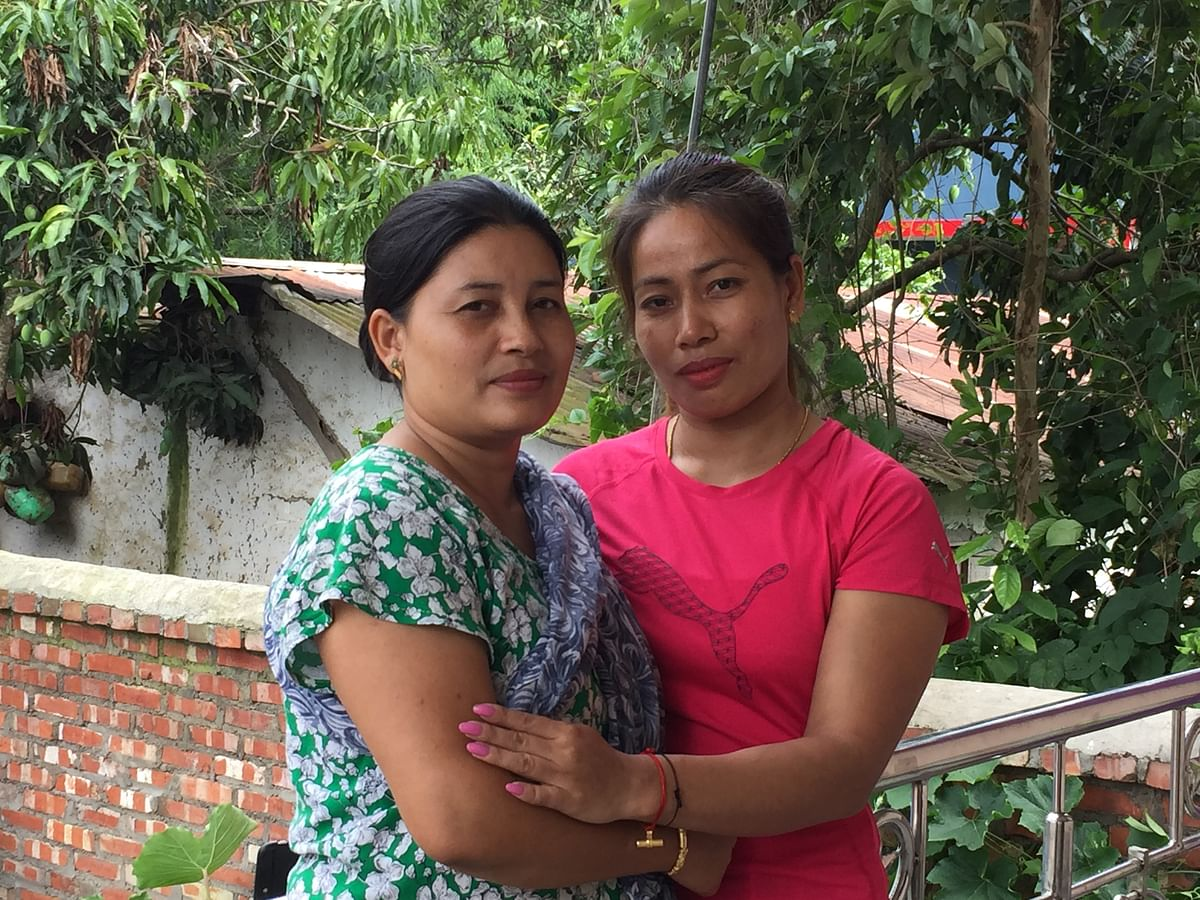 Sanjita Chanu and her elder sister
