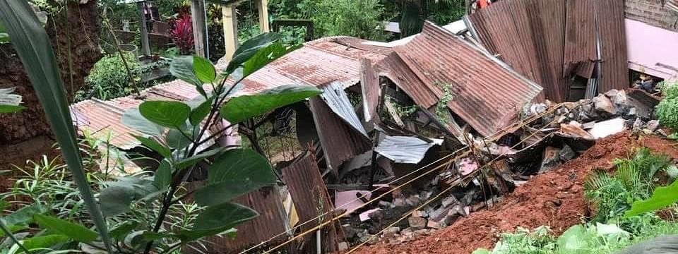 The landslide occurred around 7 am on Friday