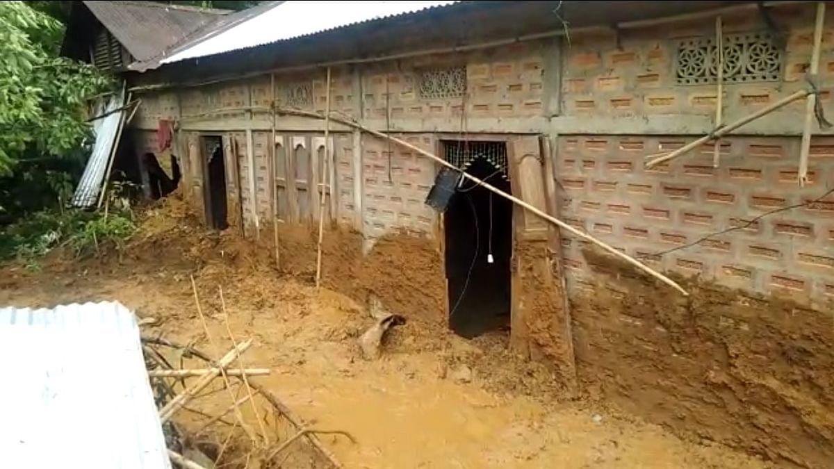 Landslides were reported from Cachar, Hailakandi and Karimganj in Assam on Tuesday morning