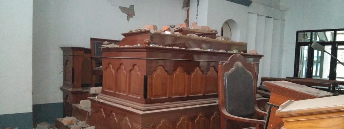 The second earthquake that struck Mizoram damaged a Church in the state
