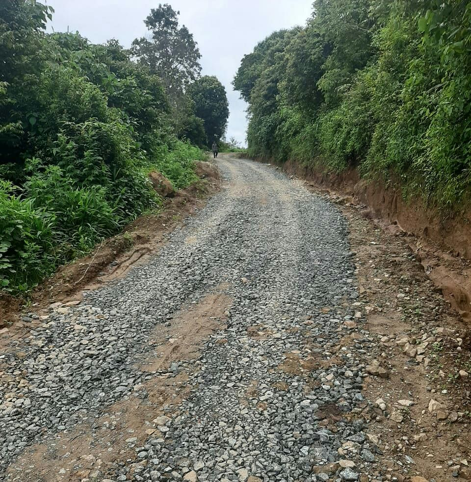 Freshly constructed motorable road connecting Vashimtang locality from Imphal-Ukhrul road