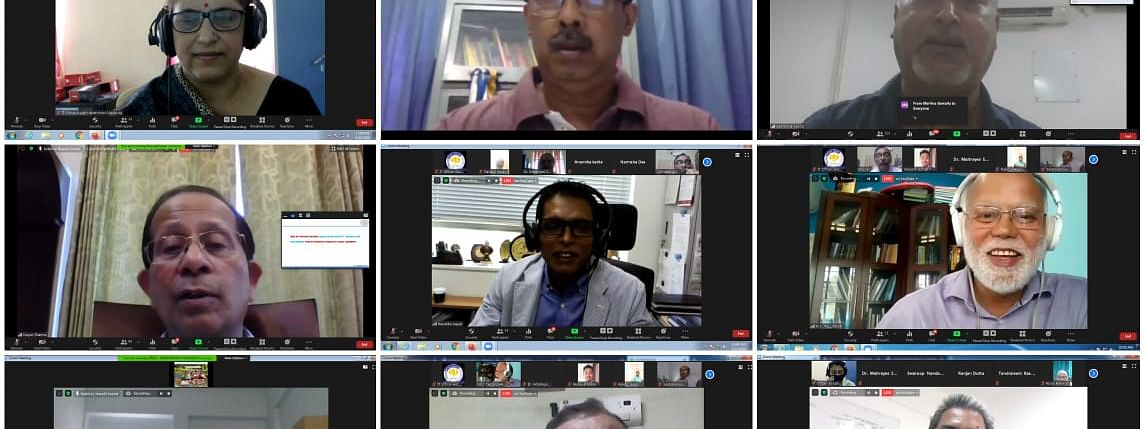 Experts spoke on 'Research in Public and Private Funded Institutions: Its Societal Impact' during the webinar