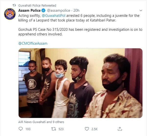 Assam Police in its Twitter