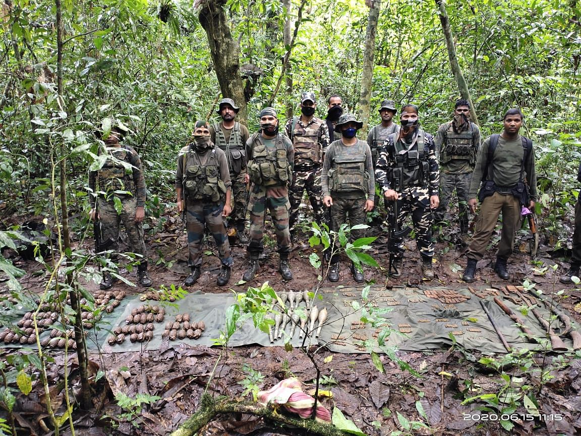 The arms and ammunition recovered