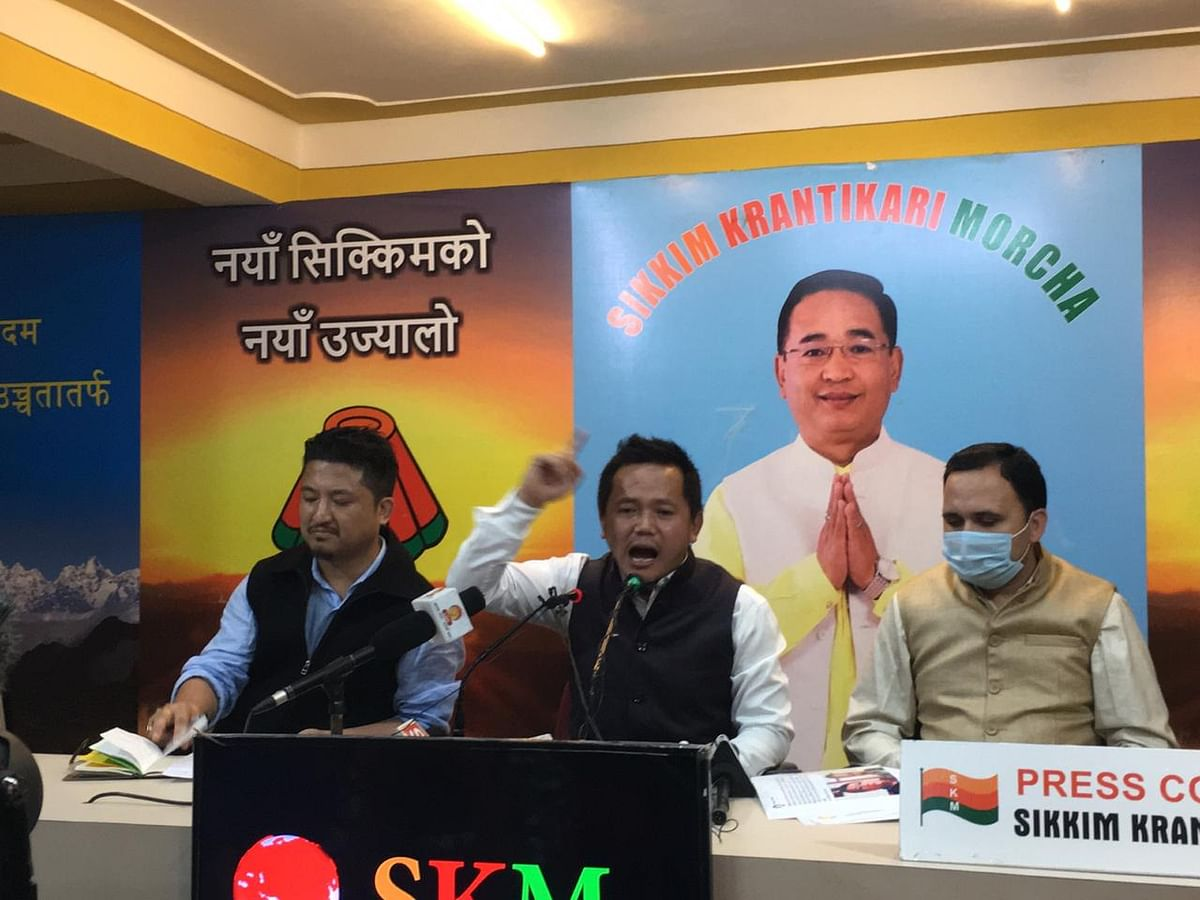 Sikkim: SKM rubbishes claims of attack on SDF spokesperson Darnal