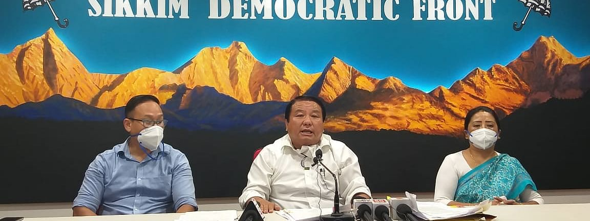 SDF chief spokesperson MK Subba during a press meet said that President's Rule is an absolute necessity in the state