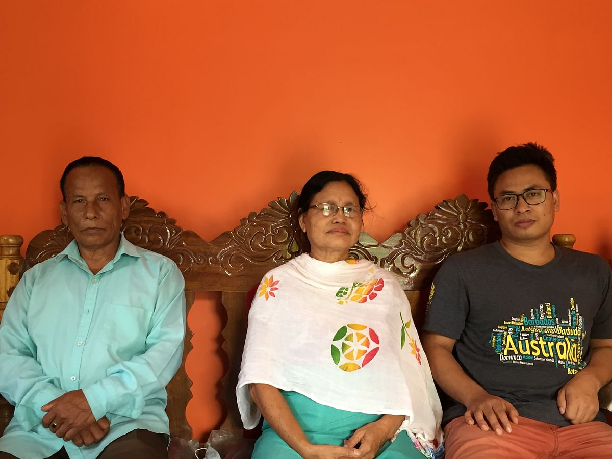 Sanjita Chanu's parents and brother Biren Kumar