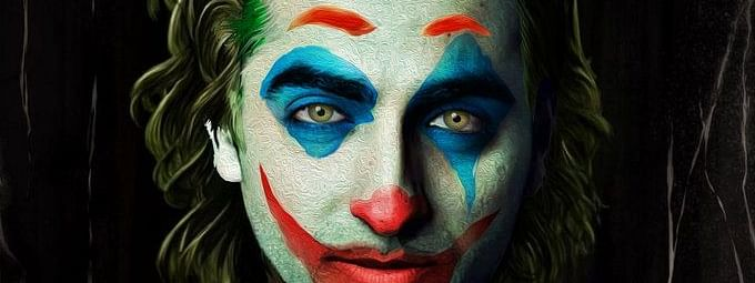 The fan art by Swapnil Pawar of Ayushmann Khurrana in Joker avatar