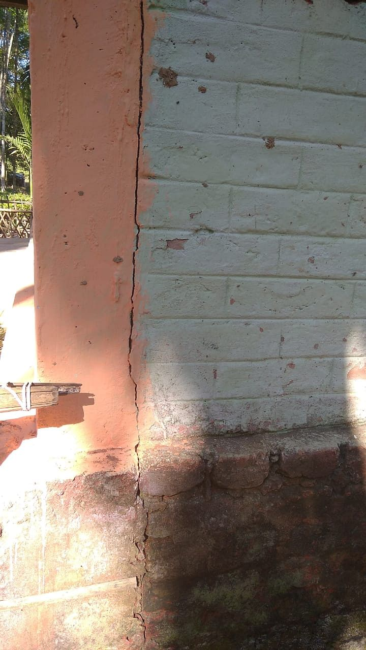 Villagers allege cracks have been developed in walls of their homes