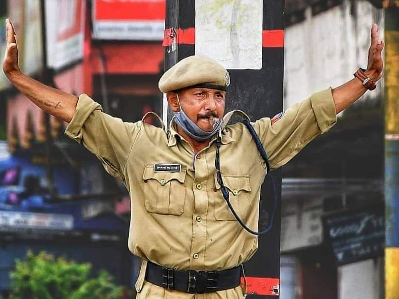 Speech impaired, but this Assam cop lets his action do the talking