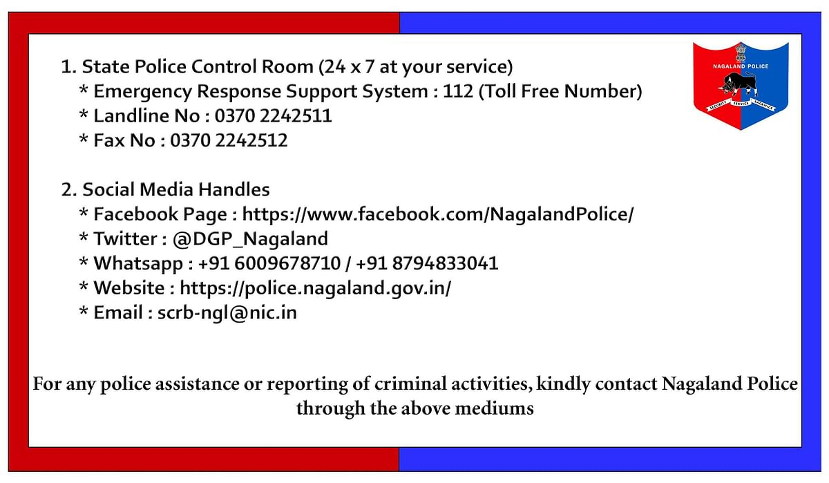 Nagaland Police contact numbers for any police assistance