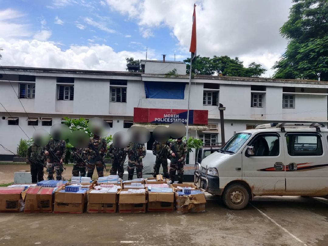 Manipur: Huge cache of contraband items, medicines seized in Moreh