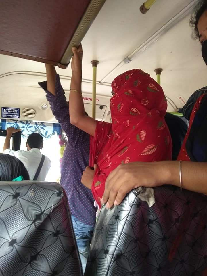 Not only bus drivers or conductors, even people do not wish to follow physical distancing inside buses