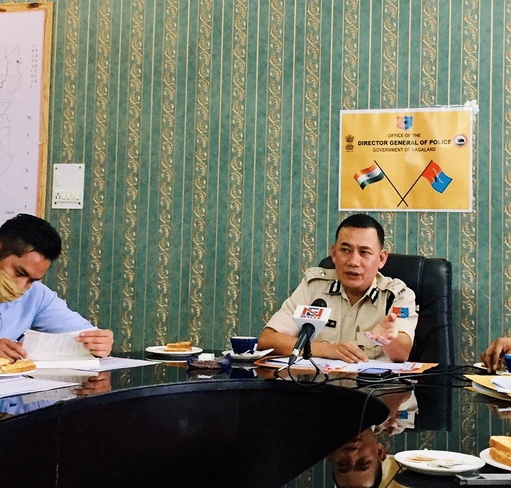 IG Range interacting with media persons at PHQ Kohima