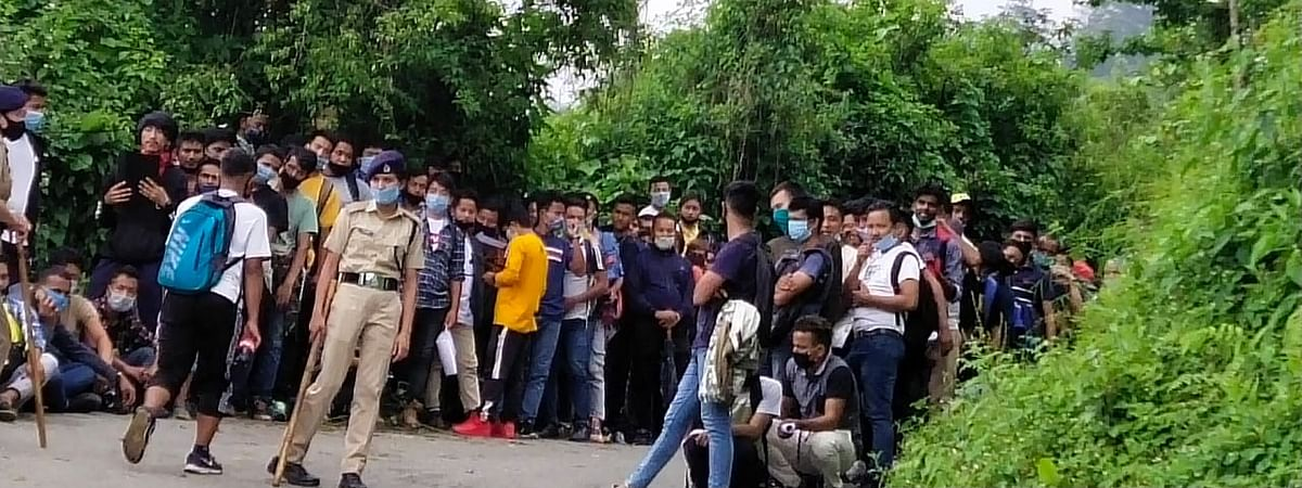 Army Officials on site however reassured that the recruitment process was part of a routine exercise and had no connection with the India-China face-off
