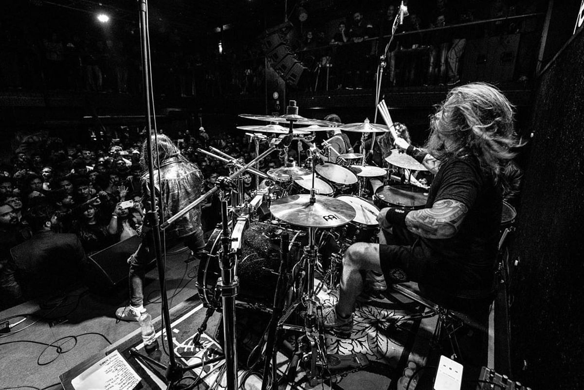 Chris Adler and Girish Pradhan of Bengaluru-based band Girish and the Chronicles came together in November 2019 for a clinical workshop on music and 3-city gig in Hyderabad, Mumbai, and Bengaluru