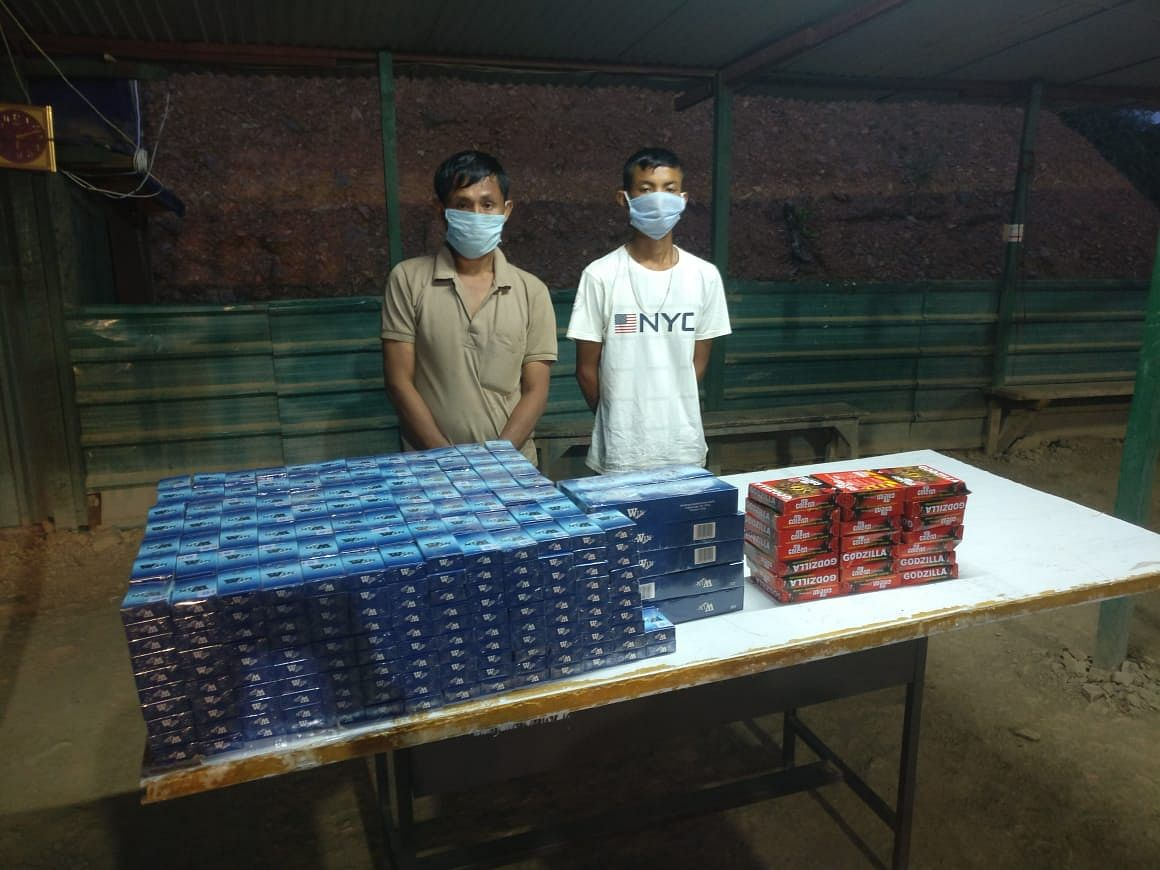 The arrested individuals along with recovered contraband items have been handed over to Moreh police station