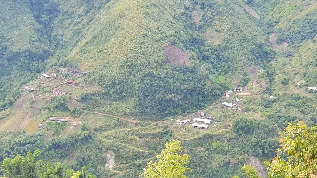 Parts of Aphomlaa, a small village in Chaglagam circle known as 'Little China'