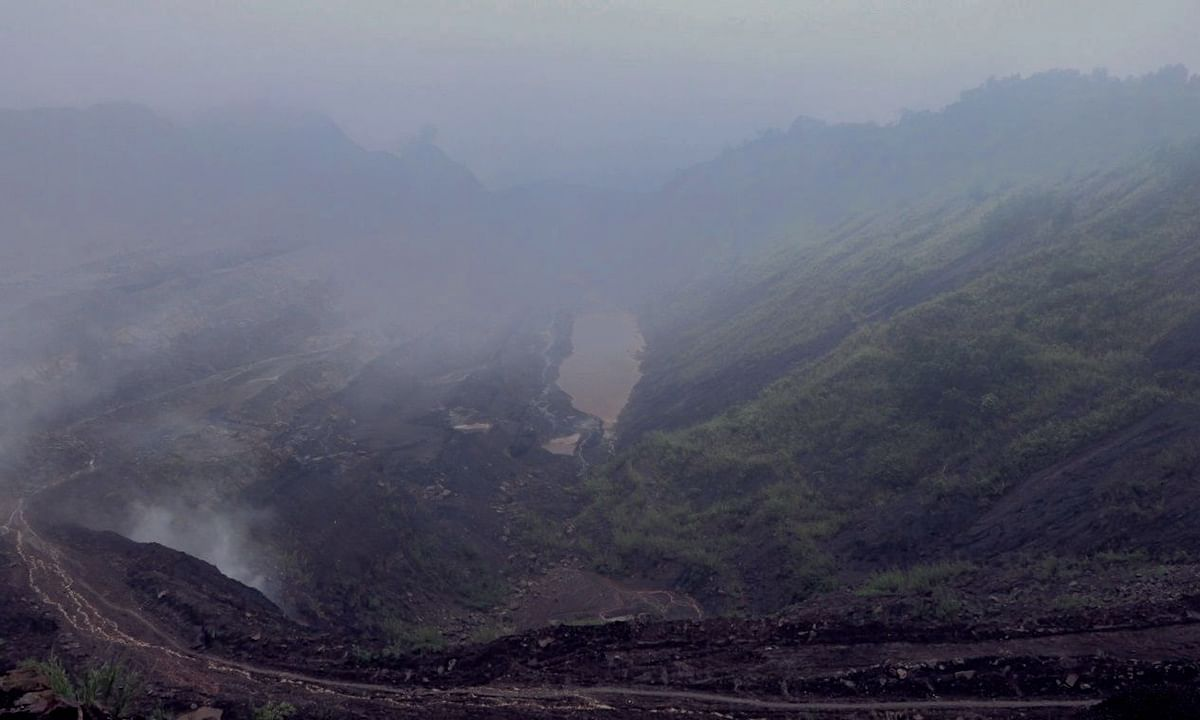 A still of Tikak open cast mining project after mining was suspended in the colliery since June 3