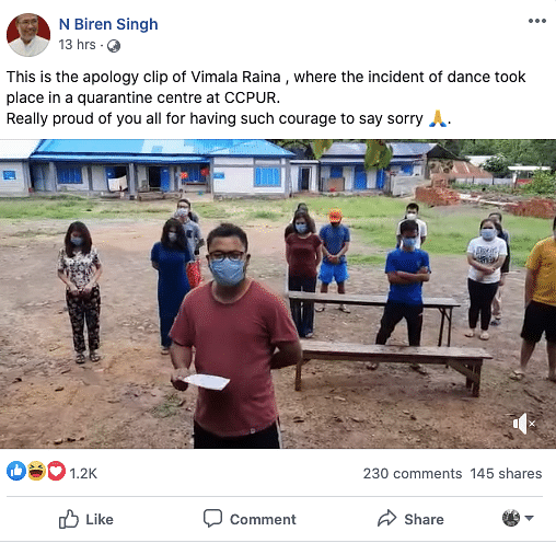 CM uploaded the video of their apology on Facebook