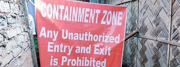 Poster put up while sealing a containment zone in Guwahati today