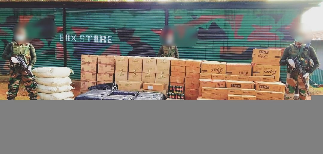 The recovered essential commodities were supposed to transport to Myanmar from Moreh town