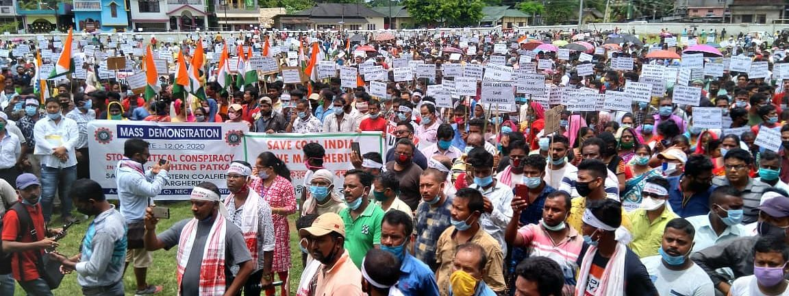 People in large numbers gathered at Margherita Central Field in Assam's Tinsukia on Friday