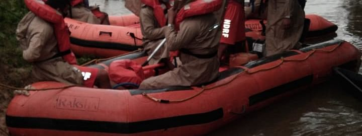 Picture of NDRF team carrying out search operations