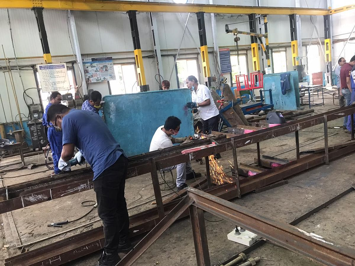 Fabrication at OIL's workshop in Duliajan