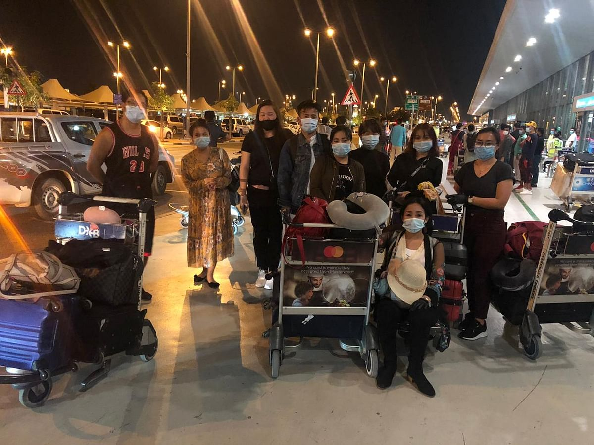 A total of 171 passengers from Northeast India arrived from Dubai in Guwahati on Thursday