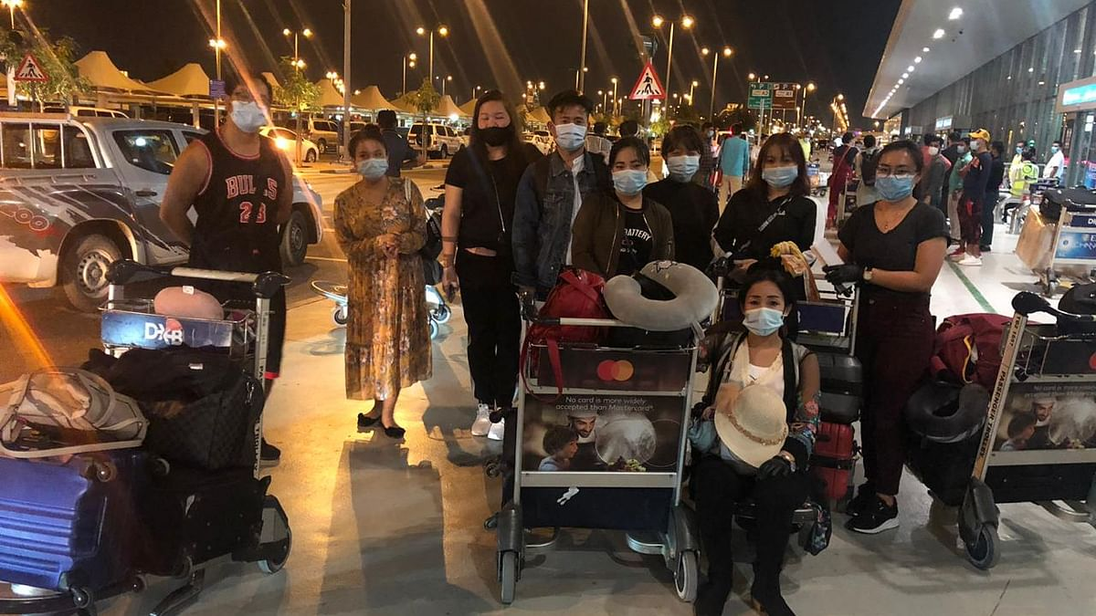 1st direct flight from Dubai to Guwahati arrives with 189 passengers from Northeast India