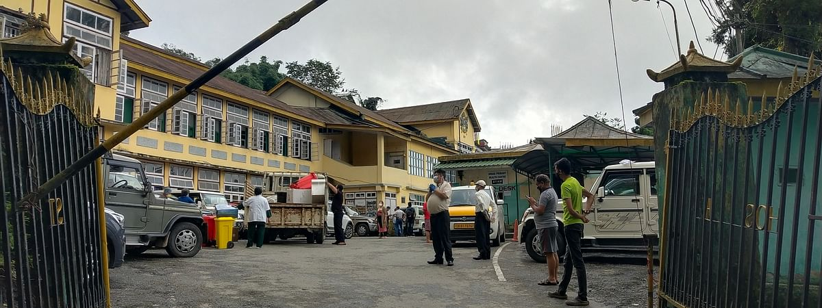 Around 70 patients registered at the OPD of the hospital on Monday morning